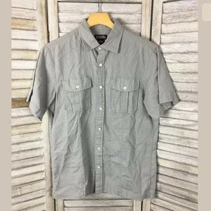 Michael Michael Kors Linen Button Down Shirt Sz S
